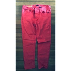 J Crew cropped toothpick jeans